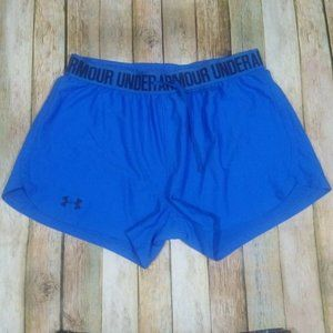 Under Armour Play Up Shorts Gym Run Small Blue